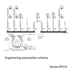 Engineering automation scheme.Abstract background.Vector