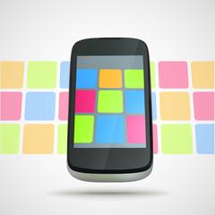 Smart phone concept eps10 vector composition