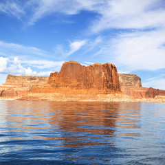 View of the famous Lake Powell
