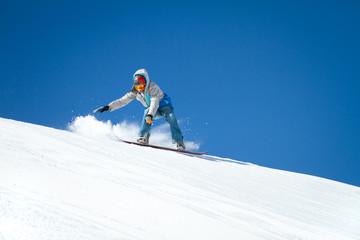 Fototapete - Snowboarder in azione