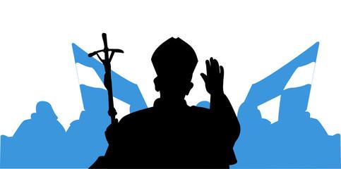 Saluto del Papa - pellegrini Fotomurales