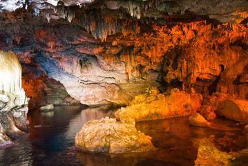 Wall Mural - Neptune cave at Sardinia, Italy