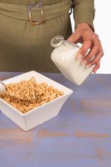 Milk on cereals