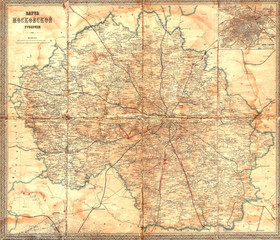 Moscow vintage map 1912