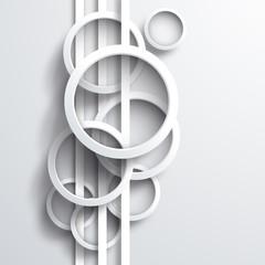 Vector 3d circles background
