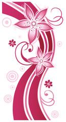 Sommer, frame, Blätter, Laub, Ranke, pink