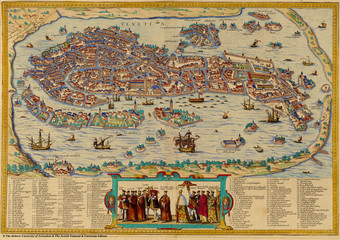 Wall Mural - Venice old map