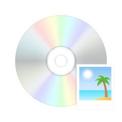 Photo disk icon. Vector illustration