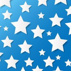 Paper stars. Vector illustration.