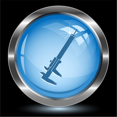Caliper. Internet button. Vector illustration.