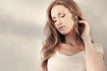 Obraz portret seksownej kobiety - fototapety do salonu