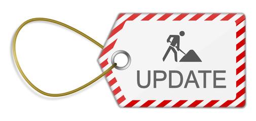Schild Baustelle Update
