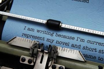 Old fashioned vintage typewriter