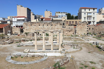 View of roman agora