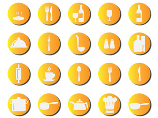 Yellow Kitchen Cook icons