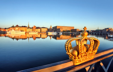In de dag Stockholm stockholm view with crown
