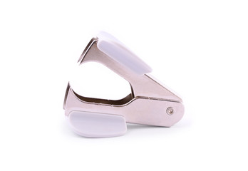 Staple remover isolated on white