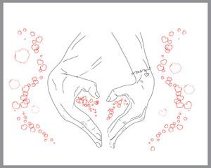 Love, sketch