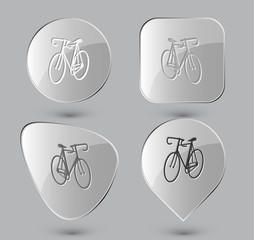 Bicycle. Glass buttons. Vector illustration.
