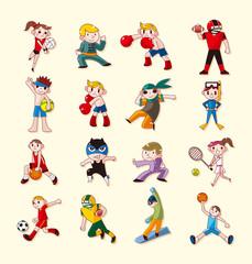 sport player icons set