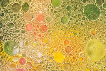 Bright colorful bubbles close-up