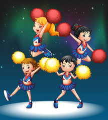 The four cheerdancers