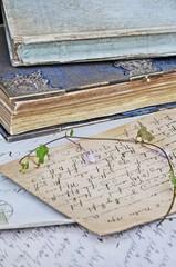 Wall Mural - Antike Briefe und Bücher