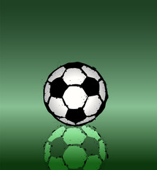 soccer ball illustration, free copy space