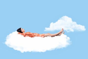 Girl on a cloud