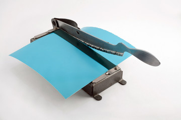 Old photo paper cutter