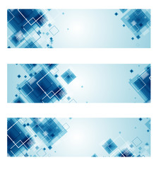 Set of Technology web-banners. Vector
