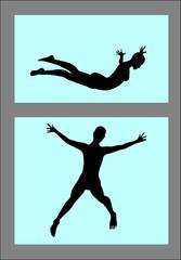 vomen free fall