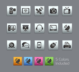 Communication Icons / Vector includes 5 Colors
