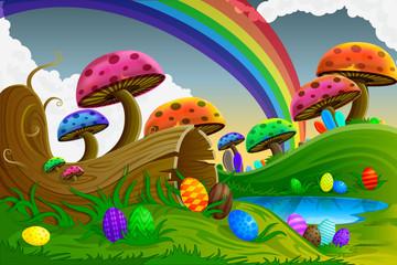 Photo sur Plexiglas Monde magique Easter Background