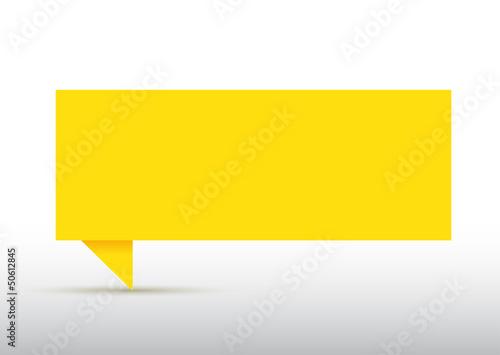 bulle en papier jaune fichier vectoriel libre de droits. Black Bedroom Furniture Sets. Home Design Ideas