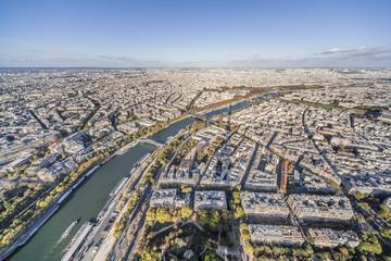 panorama de la ville de Paris et seine vue de la tour Effeil Wall mural