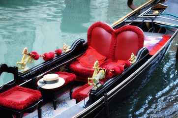 Venetian typical boat - gondola