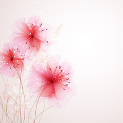 vector background with Flower 31