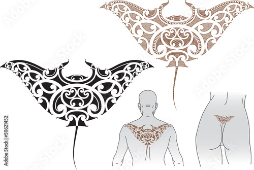 эскизы тату скат в полинезийском стиле такое