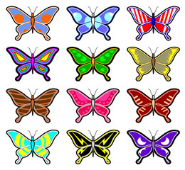 Color art butterflies