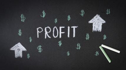 Profit Chalk illustration