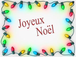 Christmas Lights Border Merry Christmas French Language