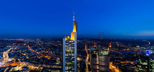 Frankfurt Main Tower Panorama at night