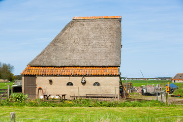 Old farm at the island of texel