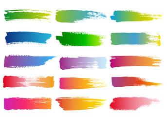 Fototapeta watercolor brush strokes, vector set obraz