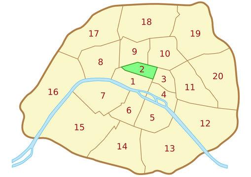 Plan du 2ème arrondissement de Paris