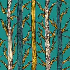 Fotobehang Vogels in het bos Texture with tress