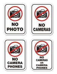 no camera phones signs