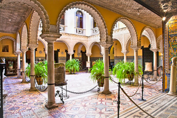 Canvas Prints Morocco Museum Lebrija Palace (Palacio de Lebrija ), Sevilla, Spain.