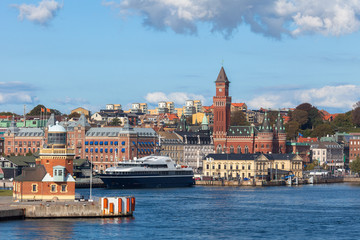 View of the City Hall Helsingborg in Sweden.